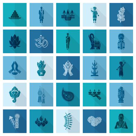 symbol hand: Diwali. Indian Festival Icons. Einfach und minimalistischen Stil.