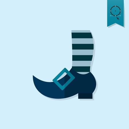 knee sock: Saint Patricks Day Icon. Vector. Clean Work Minimum Points Illustration