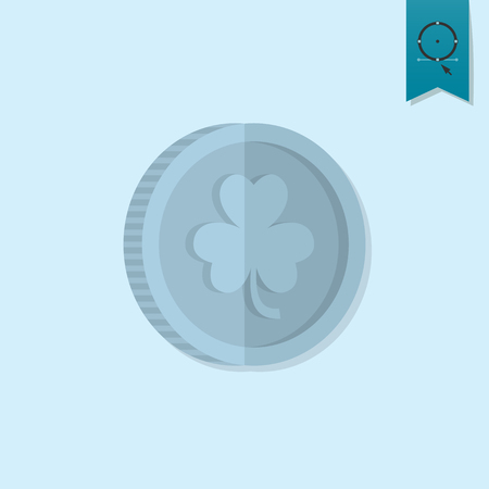 patricks: Saint Patricks Day Icon. Vector. Clean Work Minimum Points Illustration