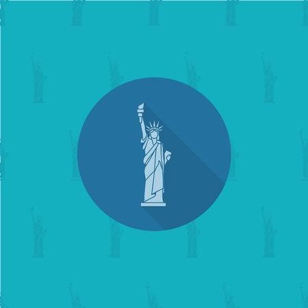 4. Juli, Tag der Unabhängigkeit der Vereinigten Staaten, Einfache Wohnung Icon. Vektor