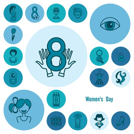 women's shoes: Design Elements for International Womens Day March 8, Icons. Vector