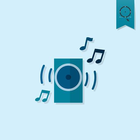 Icône de joyeux anniversaire. Colonne de musique. Simple, Minimaliste et plat de style. couleur monochrome. Banque d'images