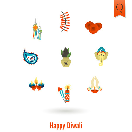 om sign: Diwali. Indian Festival Icons. Simple and Minimalistic Style. Vector