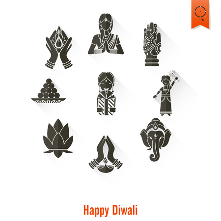 om sign: Diwali. Indian Festival Icons. Simple and Minimalistic Style.