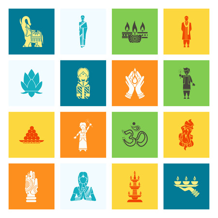 aum: Diwali. Indian Festival Icons. Simple and Minimalistic Style.