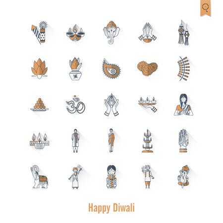 om sign: Diwali. Indian Festival Icons
