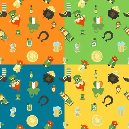 seamless clover: Saint Patricks Day Seamless Pattern