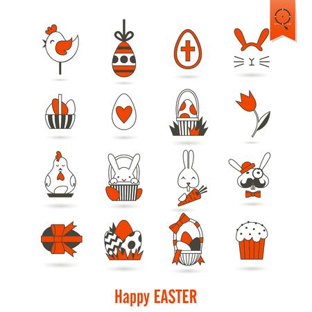 celebration: Celebration Easter Icons Stock Photo