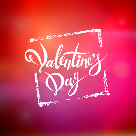 diffuse: Happy Valentines Day. Hand Drawing Vector Lettering Design. Clean Work Minimum Points