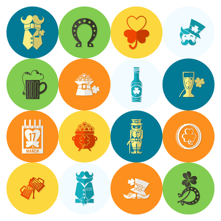 patrick's: Saint Patricks Day Icon Set