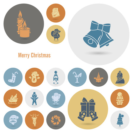 claus: Christmas and Winter Icons Collection Stock Photo