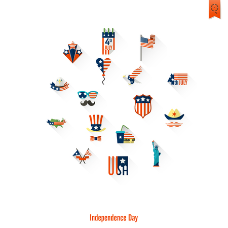 Independence Day of the United States Illustration