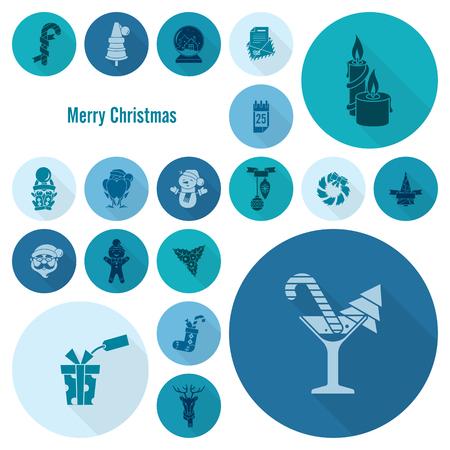 long socks: Christmas and Winter Icons Collection Stock Photo