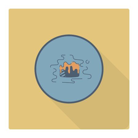 Chocolate truffle candy icon. Ilustrace
