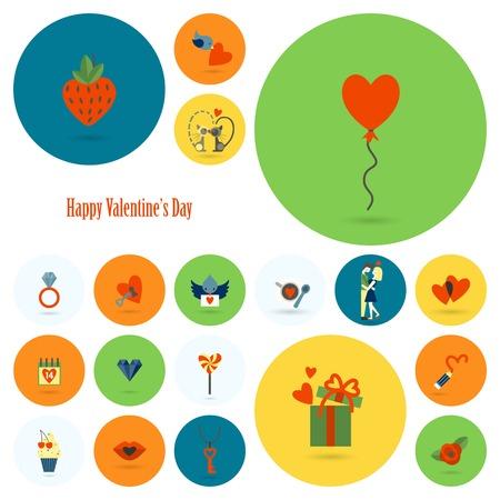 february calendar: Happy Valentines Day Icons