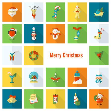 Christmas and Winter related icons. Ilustração