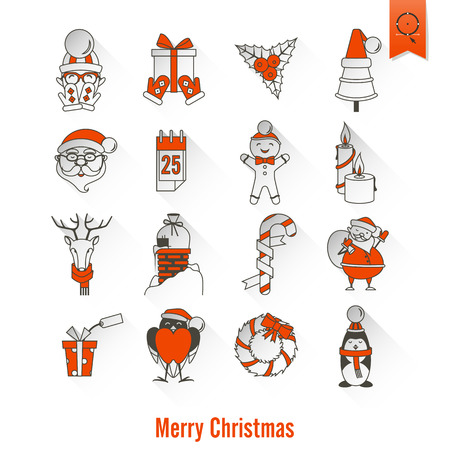Christmas and Winter Icons Collection.