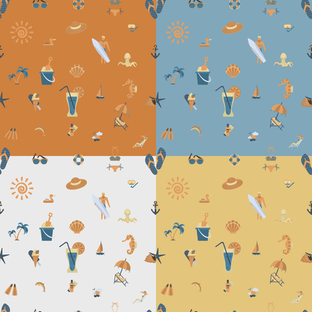 Four Background in Different Colors Vectores