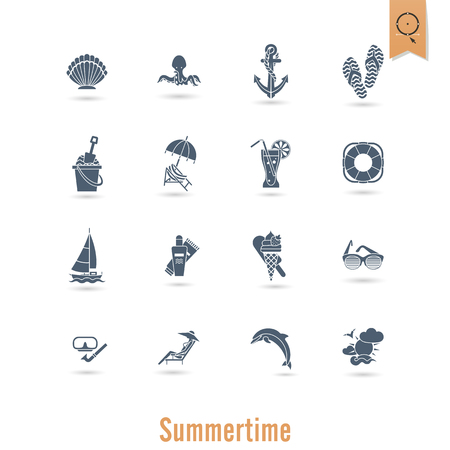 Summer and beach items illustration