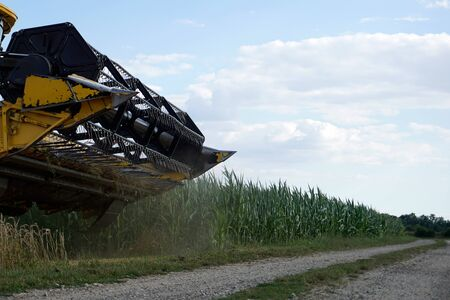 With modern machines, working in agriculture is much easier, here a combine harvester Stock fotó - 141738659