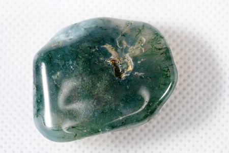Moss Agate is a gem made of silicon dioxide.