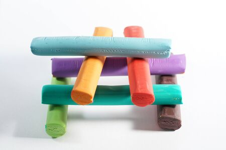 Plasticine is a very good toy for children photographed here in the studio
