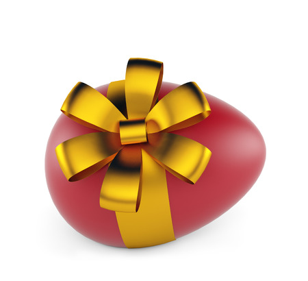 eastertime: Easter egg isolated on a white background. 3d render Stock Photo