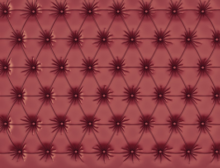 button tufted: vinous leather background with buttons. 3d rendering