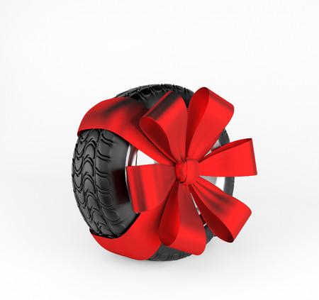 alloy: Car wheel on white background. 3d render