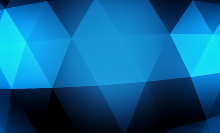 surface: Abstract blue geometric background. Gold texture with shadow. 3D render