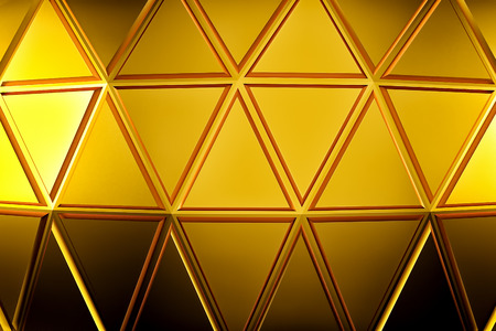 surface: Abstract gold geometric background. Gold texture with shadow. 3D render