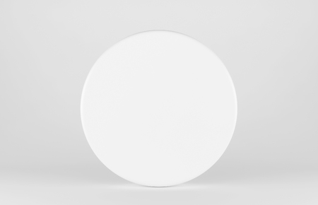 surface: White shpere isolated on white background. 3d render Stock Photo
