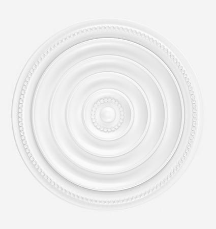 White gypsum decoration element for interior. 3d render Stockfoto - 99611036