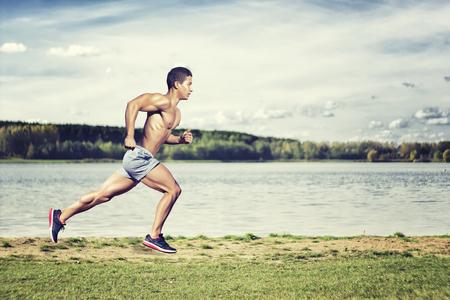 Sport concept. Runner man