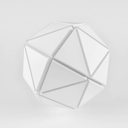 White spheres geometry background. Abstract 3d rendering