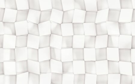 White abstract image of cubes background. 3d rendering Reklamní fotografie