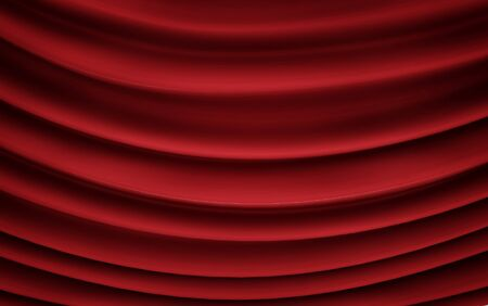 Red wavy background color splash, elegant classy design. 3d render 免版税图像