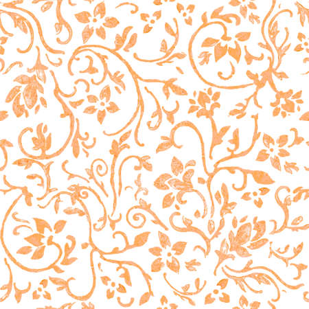 Seamless pattern with fantasy flowers