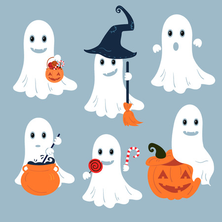 Set of vector ghosts for Halloween design.