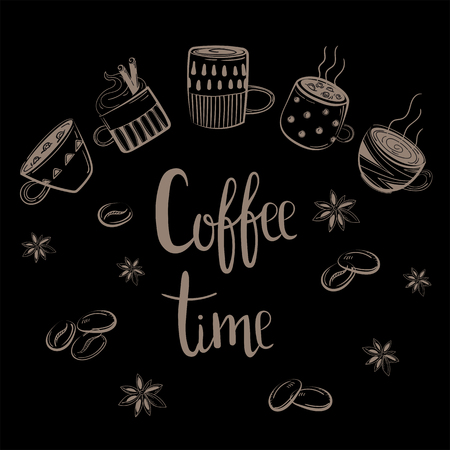 Coffee time banner.