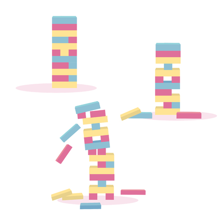 Set of color tower games for kids