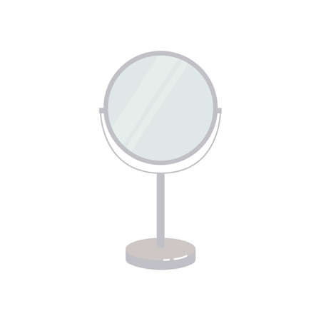 Mirror icon. Piece of furniture. Flat vector illustration on white background.