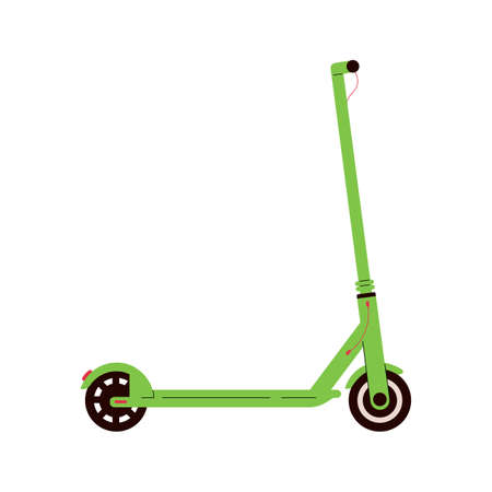 Electric scooter icon. Modern eco urban transport. Flat vector illustration isolated on white background.
