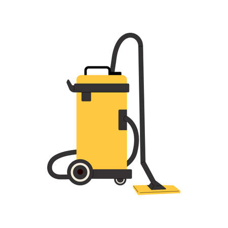 Vacuum cleaner. Electrical appliance for cleaning. Vacuum cleaner for home and professional cleaning. Vector illustration isolated on white background.