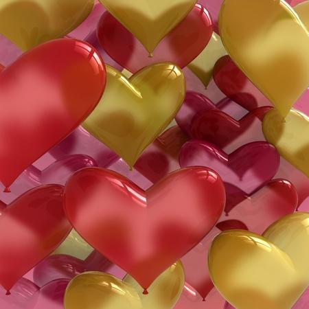 love ballons heart shaped Stock Photo - 11764003