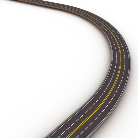 motorway: turned high way 3d illustration