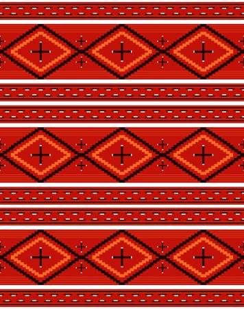 red rug: Seamless Navajo textile red pattern Illustration