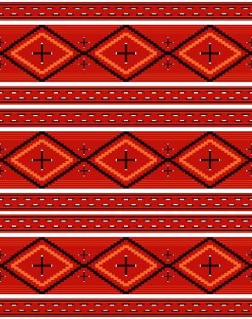 effortless: Seamless pattern rojo textil navajo Vectores
