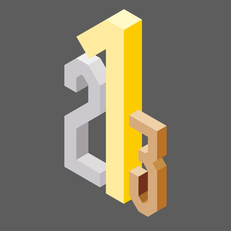 1 2 3 podium isometric style, competition concept, vector eps 10