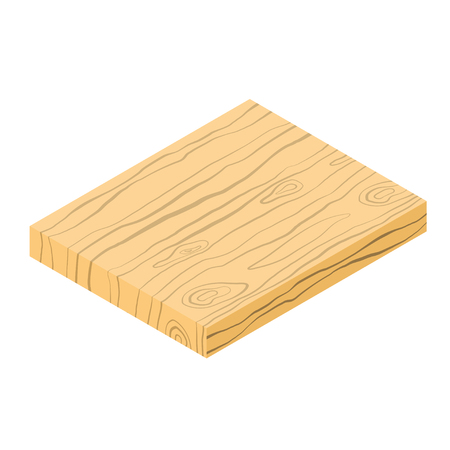 Cutting board isometric icon, cooking concept, vector eps10 illustration